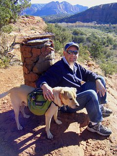Ken and Buddy on one of the many nearby trails