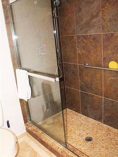 Master bath, walk in shower.
