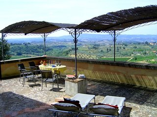 Grand Villa with Private Pool Overlooking Tuscan Vineyards - Villa Giusi