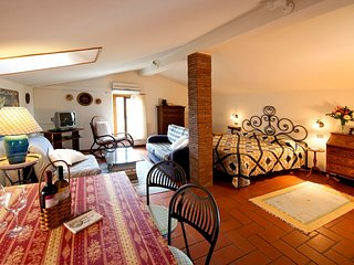 Podere Zollaio - Mansarda apartment - great views, wifi and pool, Vinci