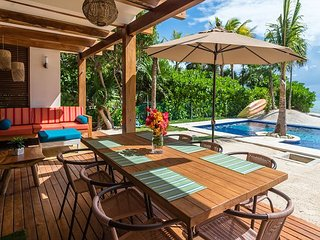 Nahil #1, Newest beach front condo with 3 bedrooms and pool. Akumal Direct.