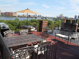 Stunning River-Front Back Bay Penthouse Duplex 3BR-3BA w/ 360 views, Boston