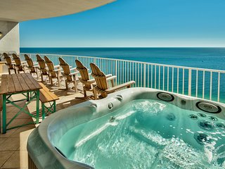 PRIVATE jacuzzi on your own balcony overlooking Gulf of Mexico!