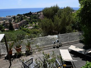 Vue mer/Large Terrasse -Parking - 5min Monaco