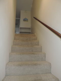 Townhouse on the 2nd and 3rd floors.  No elevator.  Bedrooms and full bath are on the 3rd floor.