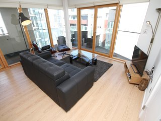 Beautiful River View Apartment - Sleeps 8, Dublin