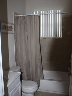 Bathroom plus shower