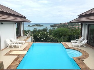 Villa Frangipani - 3 Bedroom Sea view with Private Pool near Choeng Mon Beach