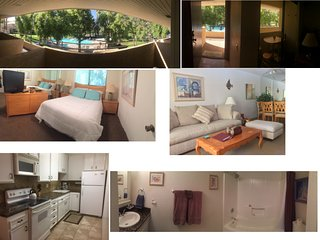 Palm Springs Mountain & Pool View Condo Suite, Quiet Oasis Paradise & Relaxation