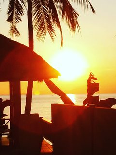 sunset at the Villa