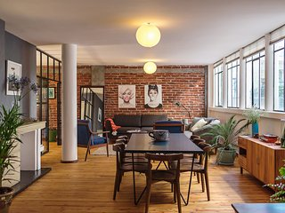 Bright family friendly loft near park, Mexico-Stad