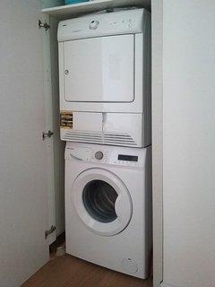 Washer/Dryer in closet.