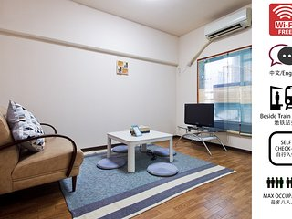 Namba 2RM Apartment for 8ppl, close to station #2