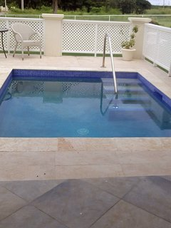 5ft Private pool with sitting area for your comfort .