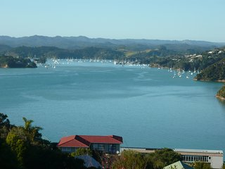 Swallows Nest spacious apartment with ocean and Opua marina views.