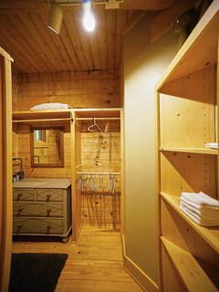 Huge closet space at Red Stag Lodge.