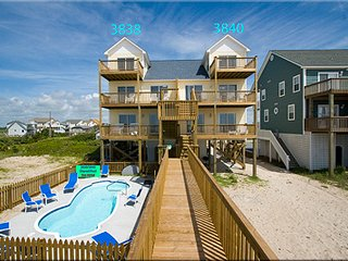 Oceanfront with pool, North Topsail Beach
