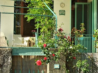 Authentic Provençal village house with sun terrace and WiFi, Bourdeaux