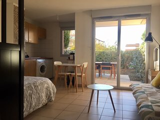 Studio & jardin ideal Perpignan WIFI PARKING