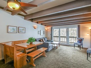 Modern, dog-friendly, waterfront condo near Donner Lake - great ski location!, Soda Springs