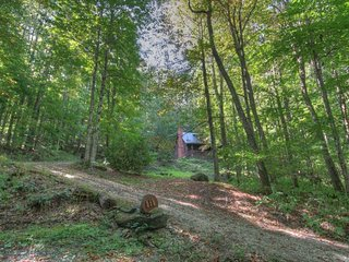 3BR Cabin, Warm Wood Interior, Hot Tub, Flat Screen TV, Outdoor Fire Pit, Hiking Trails, Bunkroom, Gas Grill, Natural Springs, Open Floor Plan, Zionville