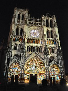 The cathedral of Amiens (the summer laser show recreating the original colours).