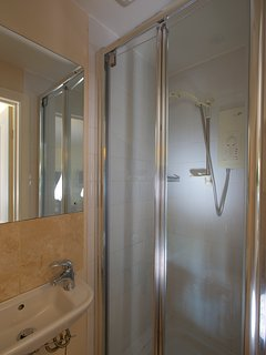 shower room downstairs with WC
