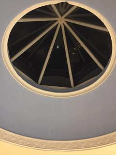 Night sky through the dining room dome