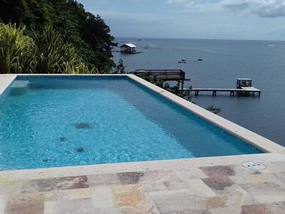 See the Caribbean Sea and reef from the pool deck.