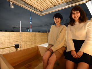 【Open-Air bath with Skytree】#1 Near Asakusa/Ueno