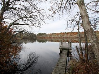 Newly Updated 4BR on Simmons Pond w/Private Dock & Porch – Walk to Downtown