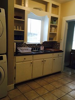 Fully furnished and functioning kitchen.
