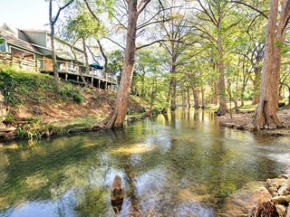 Features an Expansive Shaded Back Deck w/Stairs Right Down To Cypress Creek!, Wimberley