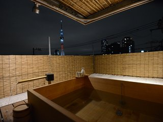 【Open-Air bath with Skytree】#3 Near Asakusa/Ueno