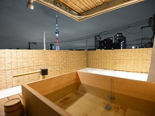 【Open-Air bath with Skytree】#1 Near Asakusa/Ueno, Sumida