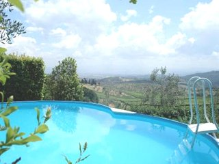 GIRASOLE APART  IN VILLA  WITH GARDEN AND POOL, GREAT VIEW OVERLOOKING FLORENCE