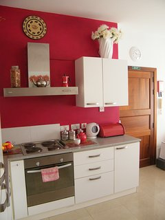 Bright and airy Kitchen, living and Dining room.  Fully equipped with  Fridge/freezer, oven, hob etc