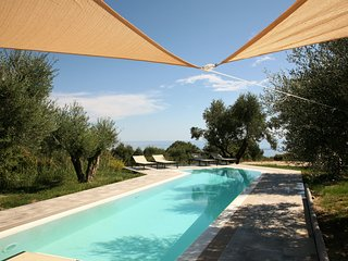 Top of range sea view villa with overflow pool, Spartia