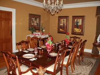 Beautiful formal dinning room, seats 12 to 20