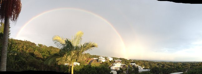 Make a wish upon a rainbow.  Or two! (as viewed from upper deck)