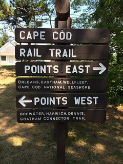 Cape cod rail trail runs through Eastham and it lets you enjoy the scenery from a great perspective.