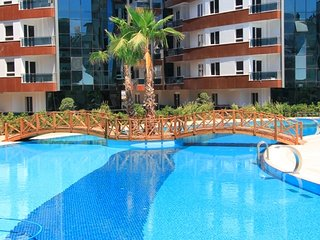 Comfortable apartment in the residance  with indoor pool, GYM, hamam, Antalya