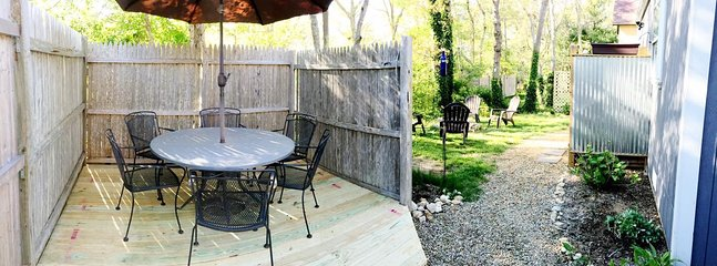Outside eating area / back yard