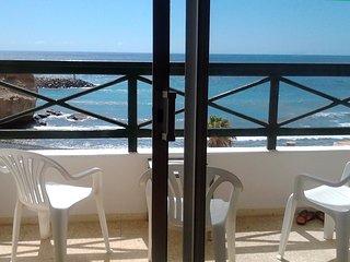 La casa de la playa, acogedora y frente al mar