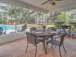 Largo Home w/Private Pool, Fire Pit, Patio, & Yard