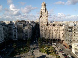 MVD Babel Tower in Plaza Independencia with the best view of the Old City, Montevideo