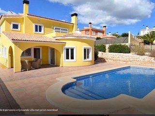 Costa Blanca, 6 pers. luxe villa met privé zwembad (bij Pedreguer)