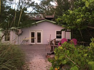 Beachfront Island Cottage On The Gulf! Amazing spot right on the beach...