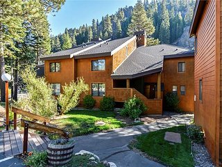 Alpine Truckee River Condo - Enjoy the river right from your deck.