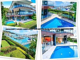 Pavillions 6 Luxury 4 Brm Ocean View Ground Floor With Fenced Swimming Pool, Hamilton Island